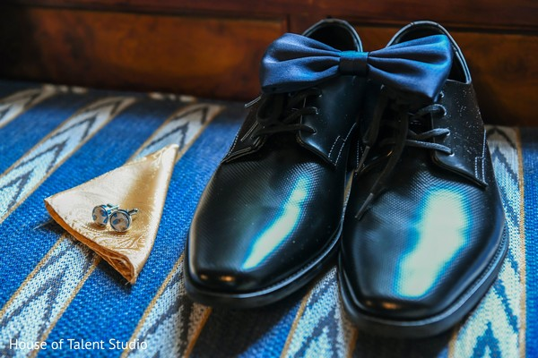 Shoes and accessories for the Indian groom's reception attire