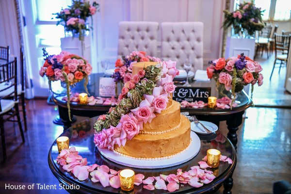A capture of the wedding cake