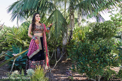 Sensational outdoor themed indian bride photo shoot.
