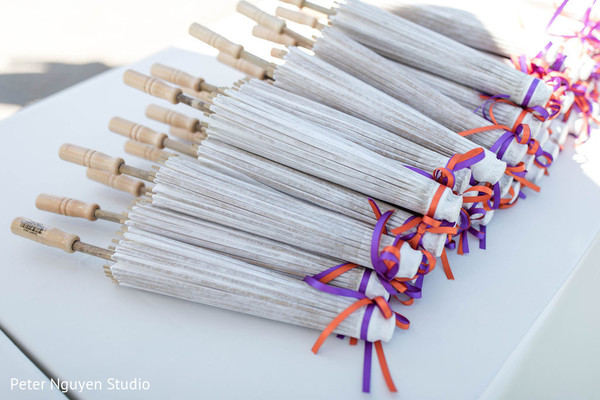 Indian wedding paper umbrella.