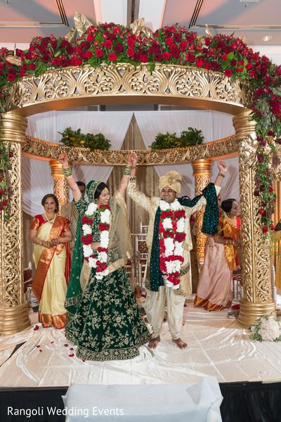 Raja and maharani at wedding ceremony capture.