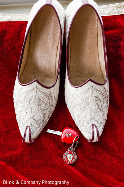 Indian grooms ceremony wedding shoes.