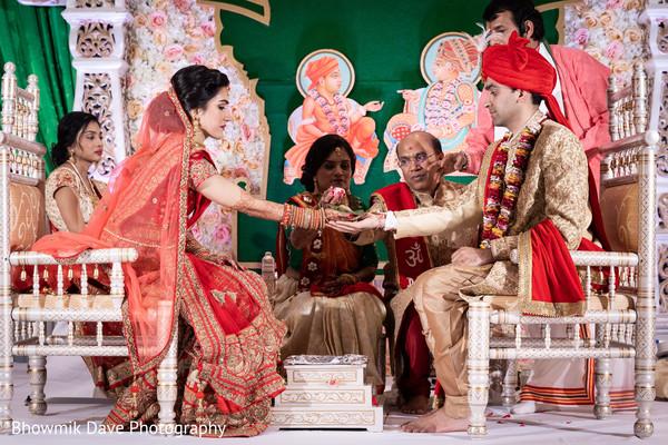 Maharani and Raja during the ceremony ritual.