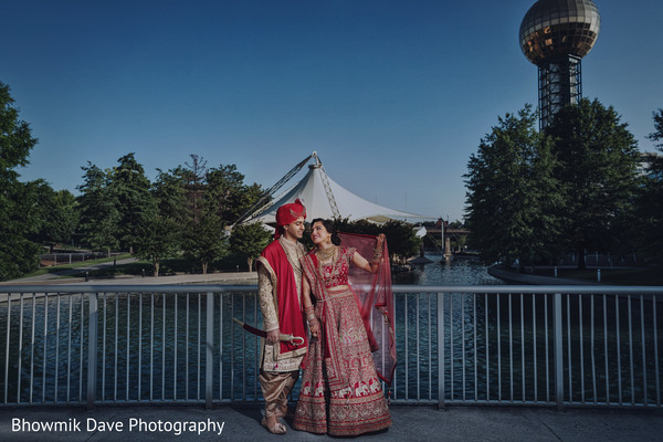 Incredible Indian bride and groom photo.