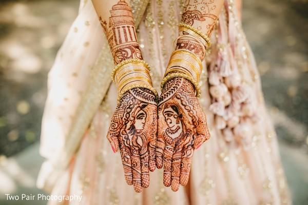 Maharani's Indian wedding mehndi art.