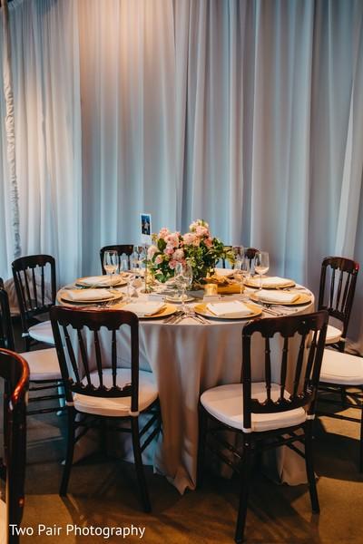 Indian wedding table setup.