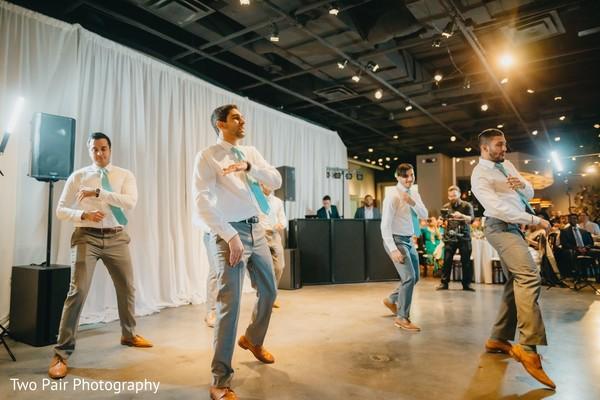 Indian groomsmen reception choreography.