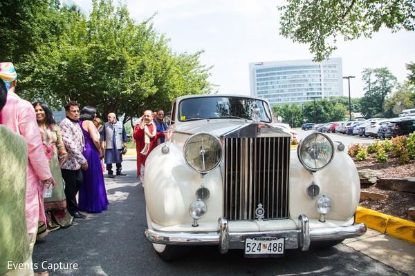 Indian wedding ivory classic vehicle.