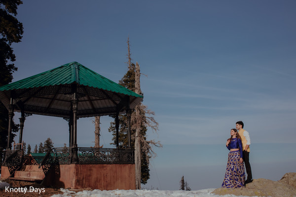 Most romantic indian bride and groom photo session
