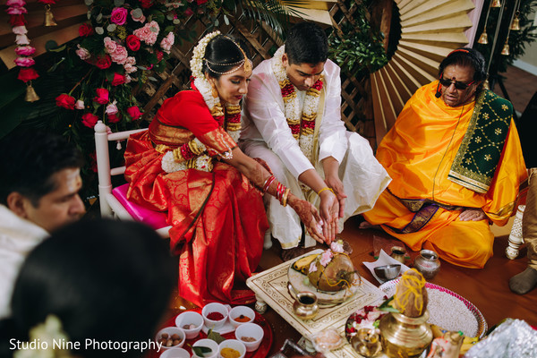 Indian couple during the ceremony
