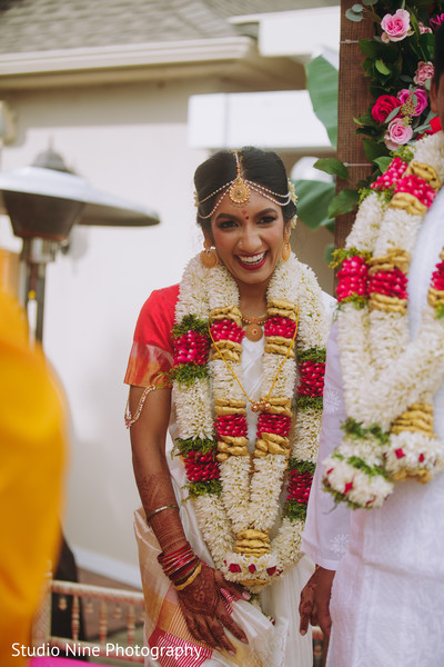 Maharani smiling during the ceremony