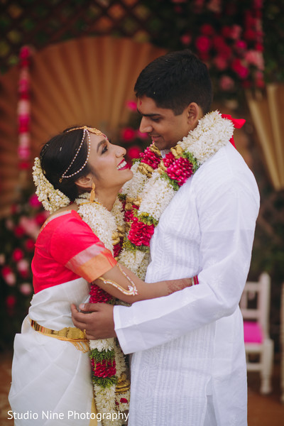 Indian couple in an embrace