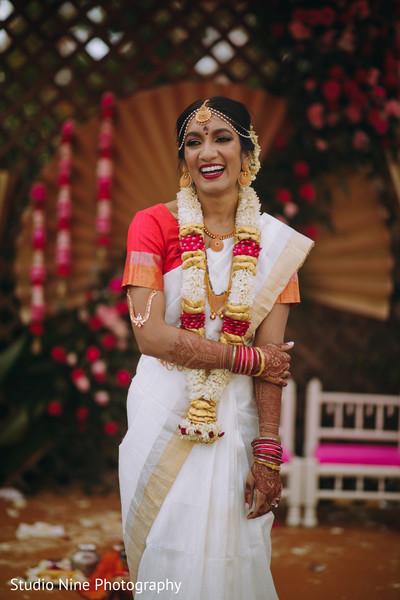 Indian bride in her wedding attire