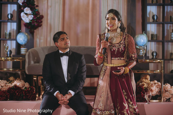 Maharani making a speech during the reception
