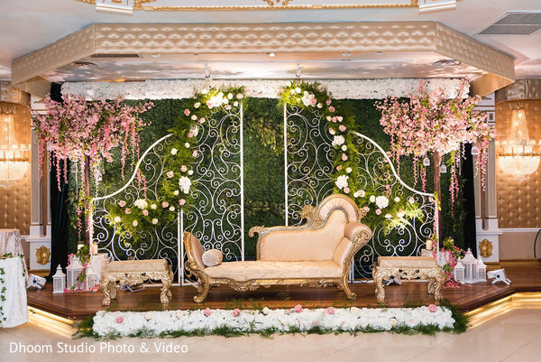 A closer look of the stage at the reception hall