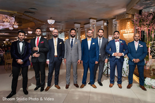 A picture of the Indian groomsmen