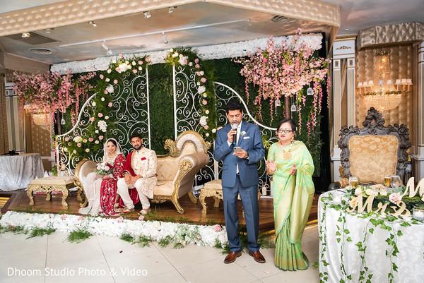 Indian relative making a speech