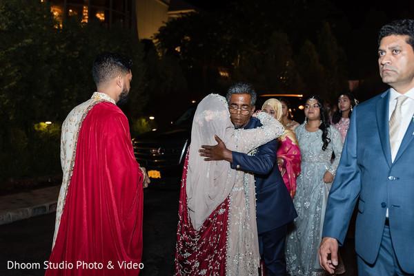 Indian bride bidding her farewells