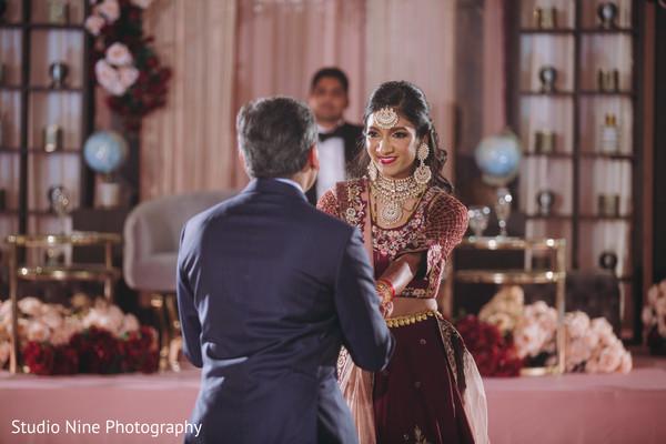 Maharani and an Indian relative dancing