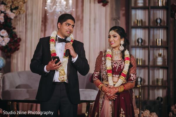 Indian groom making a speech