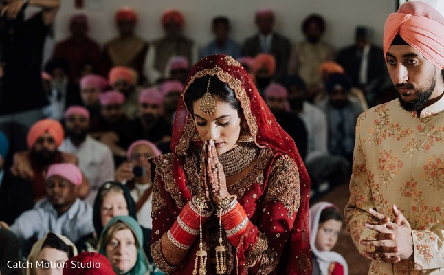 Indian bride  at traditional wedding ceremony.