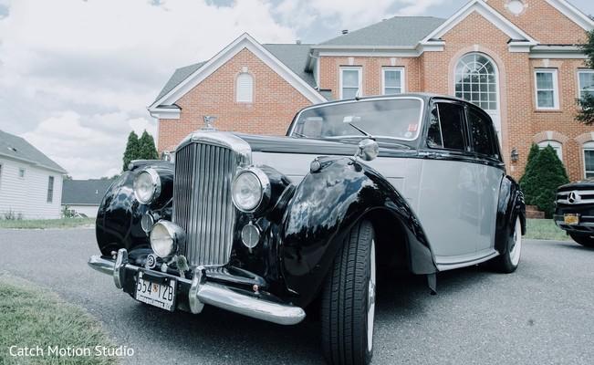 Indian wedding Black and gray indian wedding Rolls-Royce.