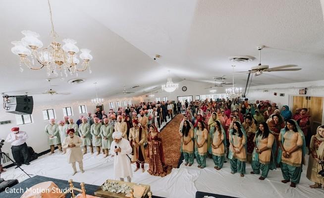 Indian wedding ceremony venue capture.