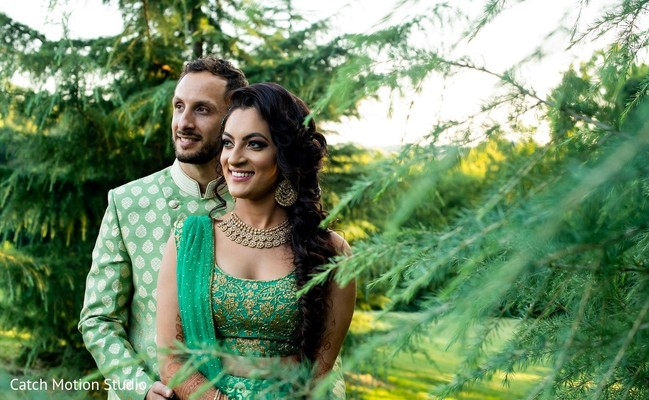 Outdoors Indian couple photo session.