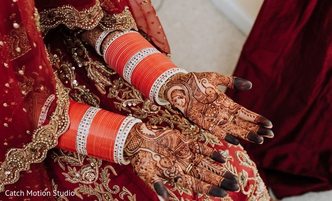 Indian bridal dark henna art.