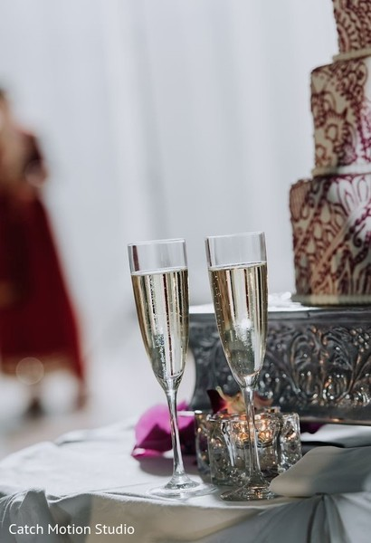 Crystal clear indian wedding champagne flutes.