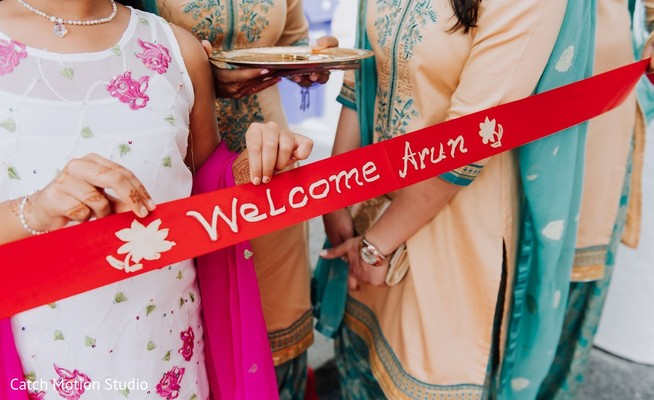 Indian wedding Welcome sign.
