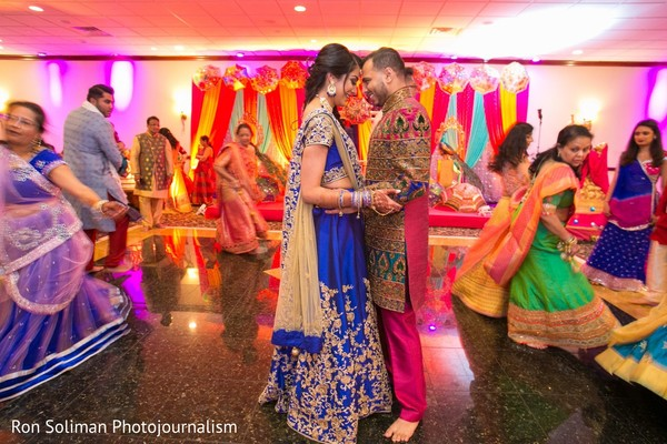 Indian couple sharing a moment on the dance-floor