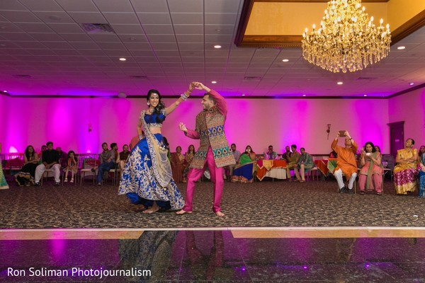 Indian couple's own performance at the Sangeet