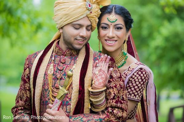 Maharani holding her Indian groom