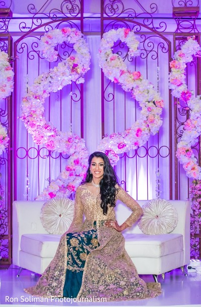 Maharani sitting at the reception hall