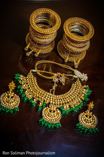A take of the jewelry to be used by the Indian bride