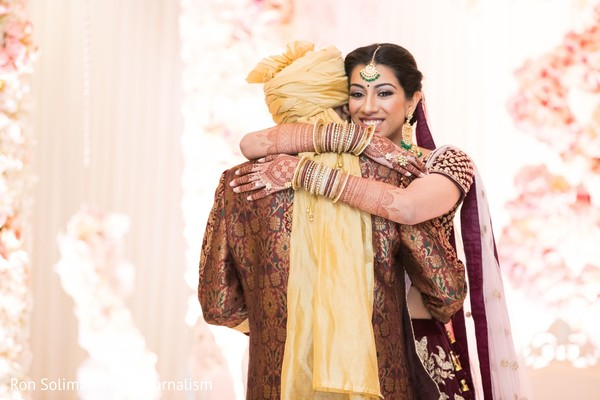 Indian couple's ceremony photography.