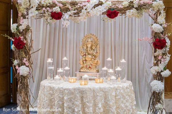 Altar decoration for Ganesha Puja God.