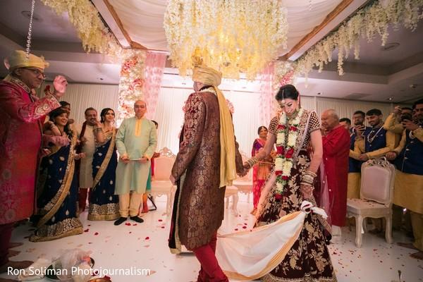 Traditional Indian wedding ceremony Agni ritual.