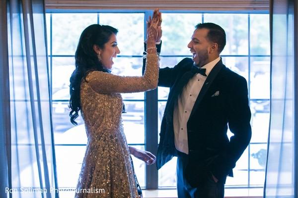 Joyful Indian couple photography.