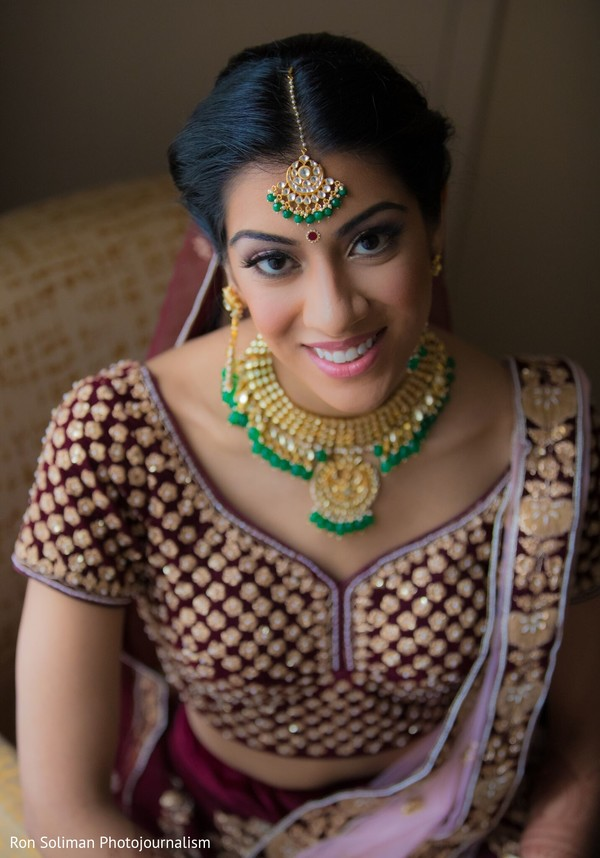 Indian bridal flawless wedding ceremony makeup.