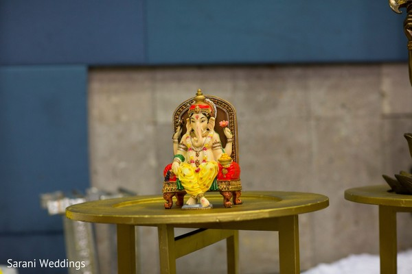 Indian wedding Elephant-man God altar decoration.