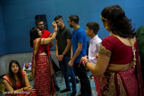 Indian wedding rituals capture.