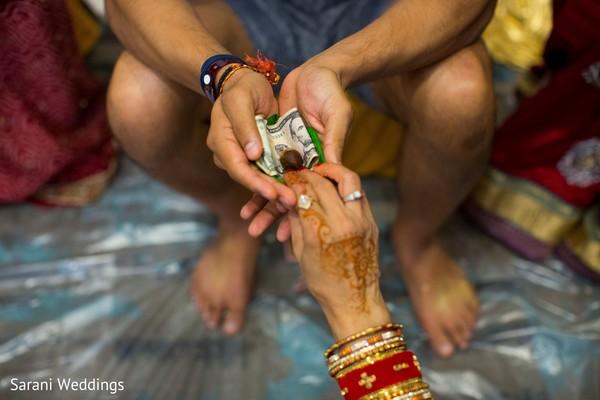Indian pre wedding groom's ritual.