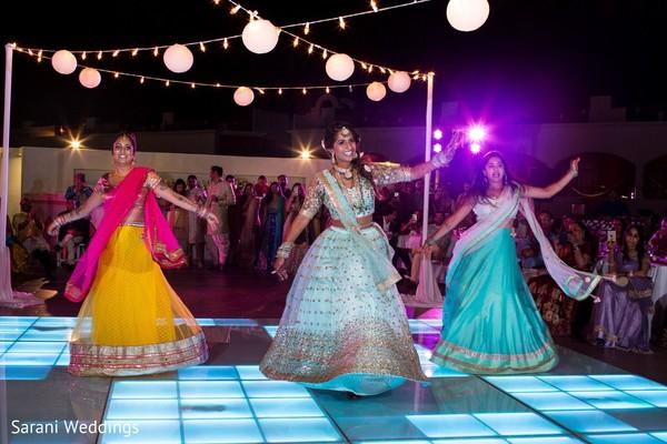Indian bride dance at sangeet.