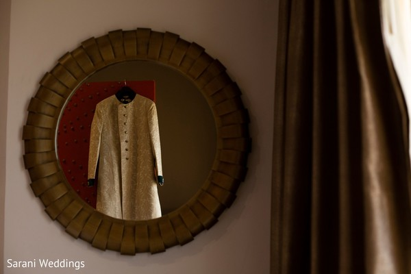 Raja's golden ceremony sherwani.