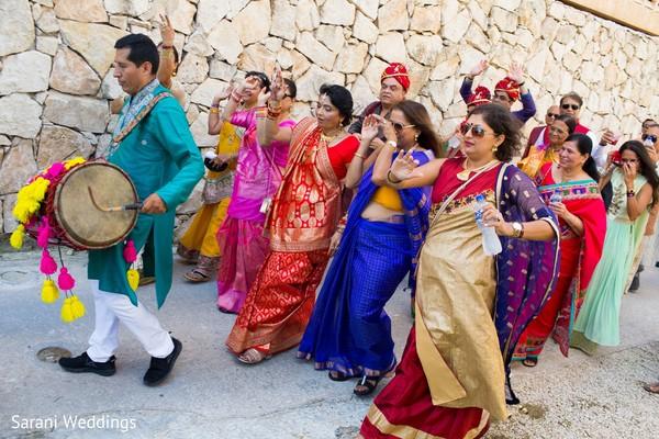 Indian pre-wedding Sangeet celebration capture.