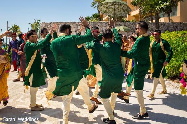 Indian groomsmen sangeet dance.