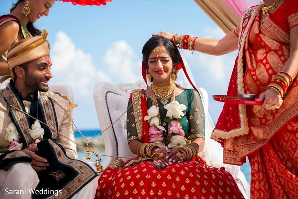 Maharani and raja at ceremony rituals capture.
