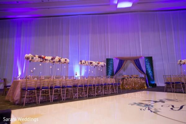 Indian wedding rectangle table setup.